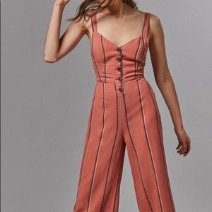 Urban Outfitters Ashley Buttoned Tie Back Jumpsuit